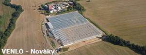 Skleník VENLO Nováky, hydroponické pestovanie v závesných žľaboch