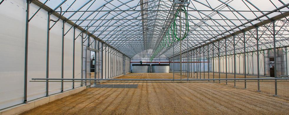 Zavlažovacia rampa pre skleníky alebo fóliovníky